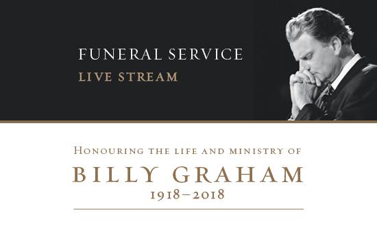 Billy Graham, Funeral Service Live Stream